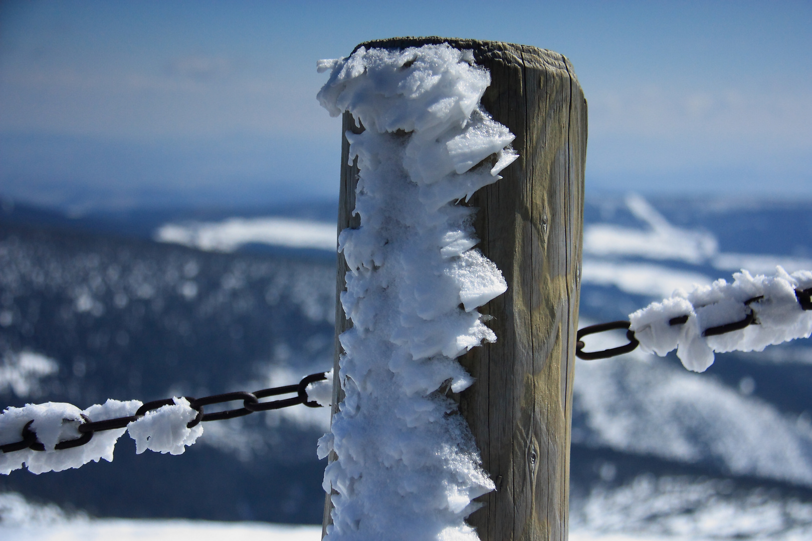 Winter auf der Schneekoppe