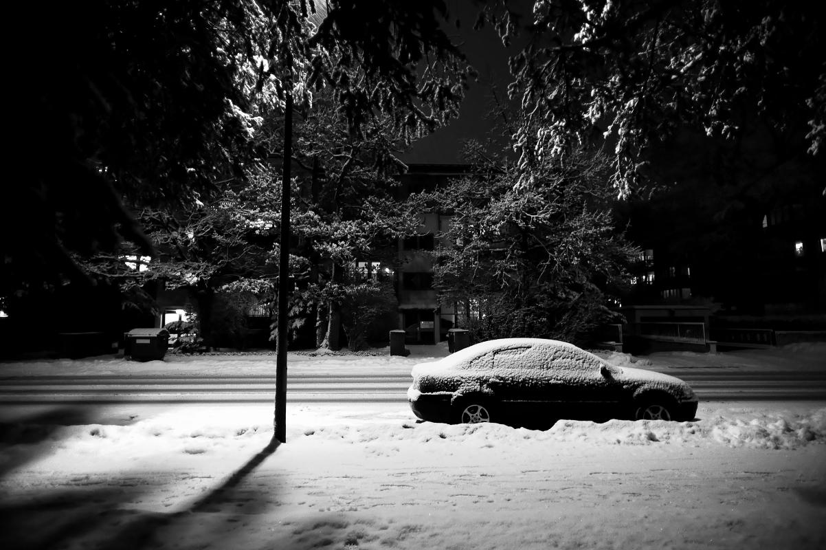 Winter auf der Straße...!