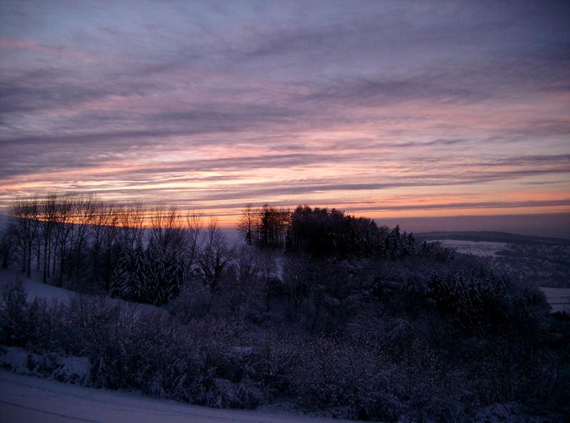 Winter auf der TECK