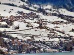 Winter, die Strasse von Gunten nach Sigriswil ist geräumt