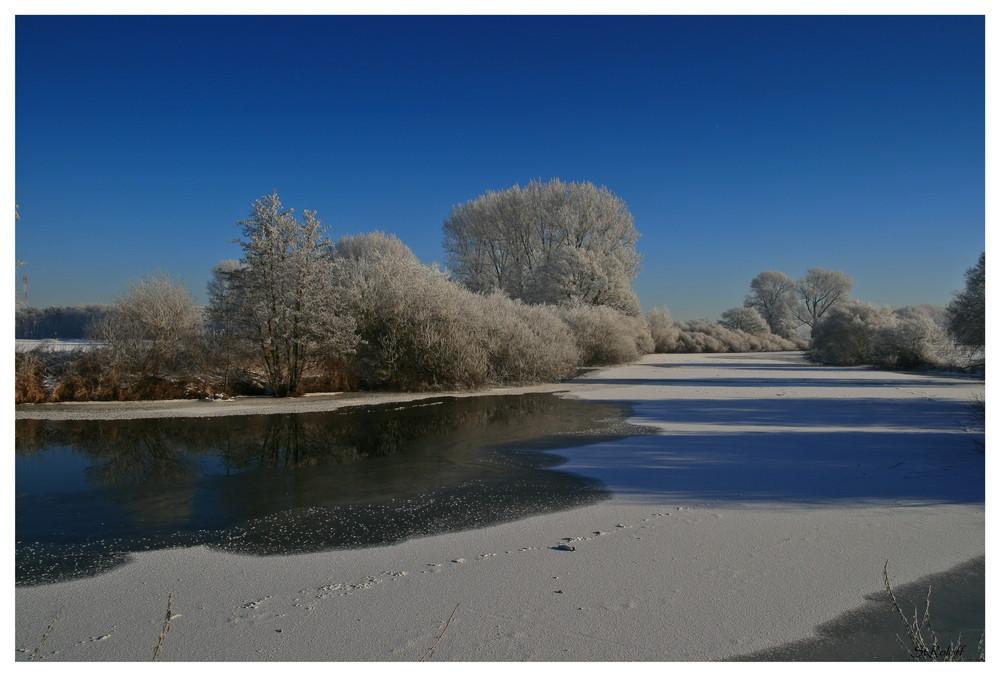 Winter, entlang der Ems Rheine