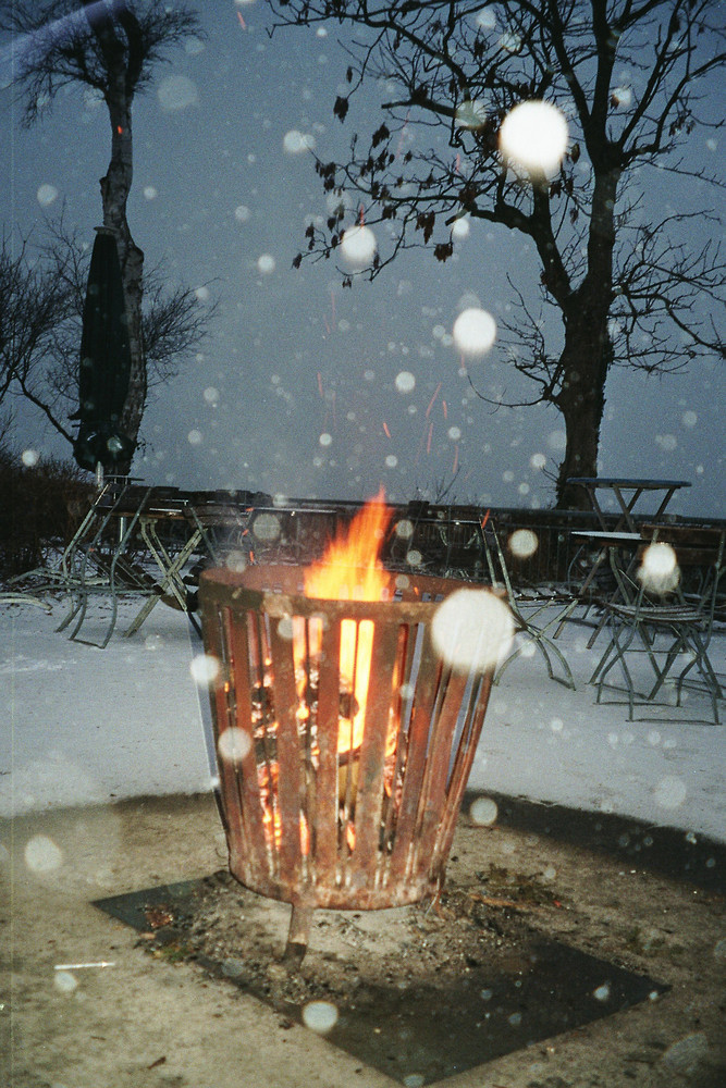Winter-Feuer-Zauber