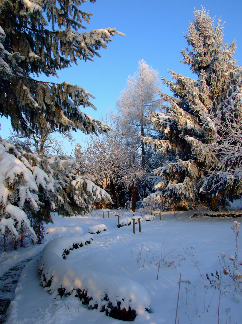 °°° Winter-Garten-Schnee-Jahresend-Wege °°°