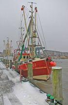 Winter im Außenhafen Husum