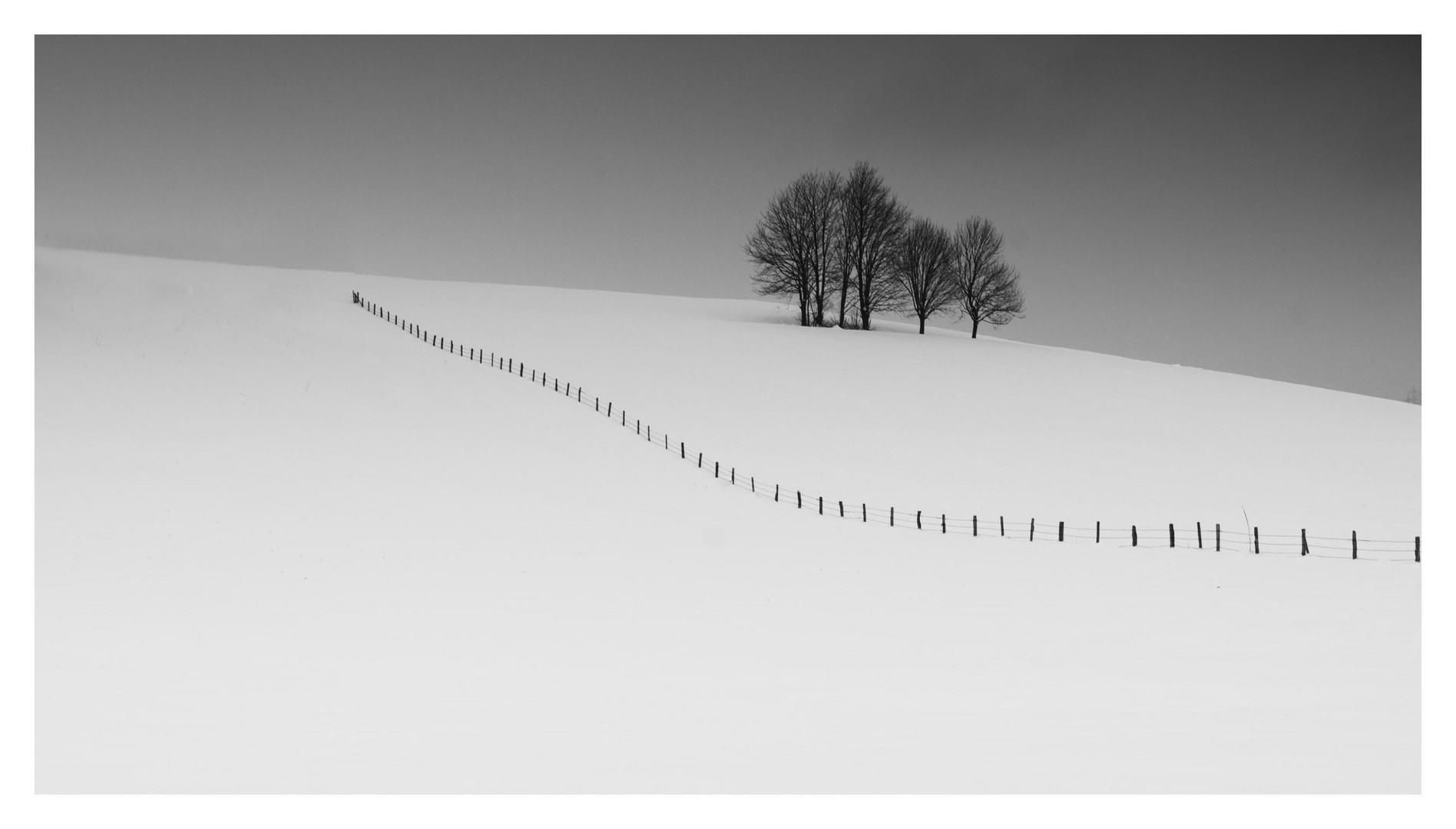 Winter im bayerischen Voralpengebiet