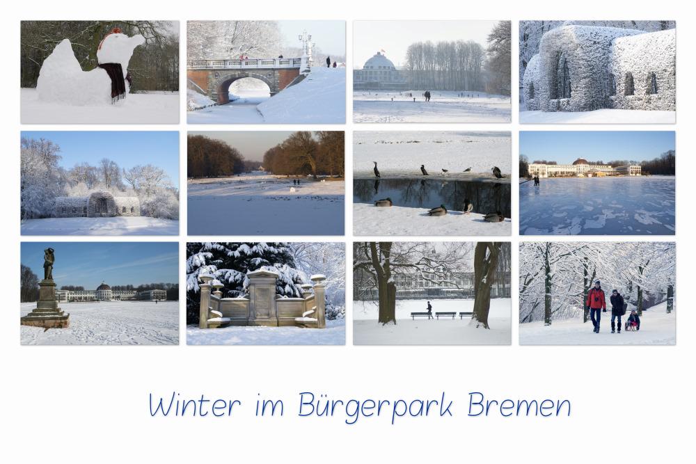 Winter im Bürgerpark ...
