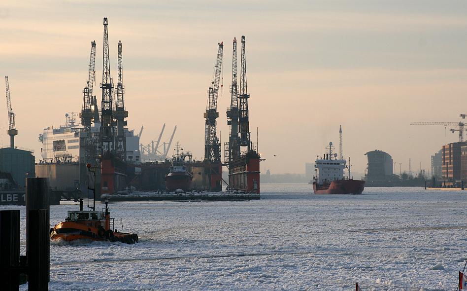 Winter im Hafen - Hafen im Winter