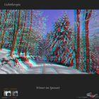 Winter im Spessart in 3D - Stereofoto + Voll-HD Anaglyphe