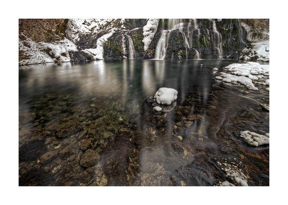 Winter im Wasserfall