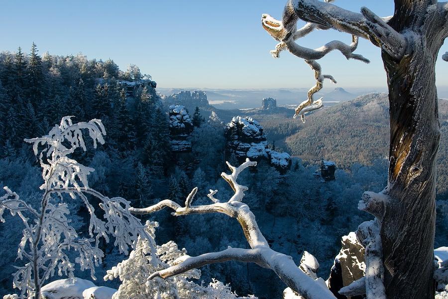 Winter in den Affensteinen