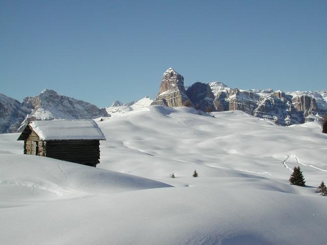Winter in den Dolomiten