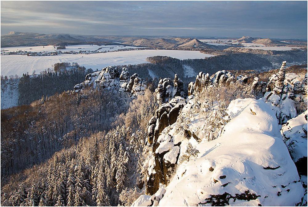 Winter in den Schrammsteinen