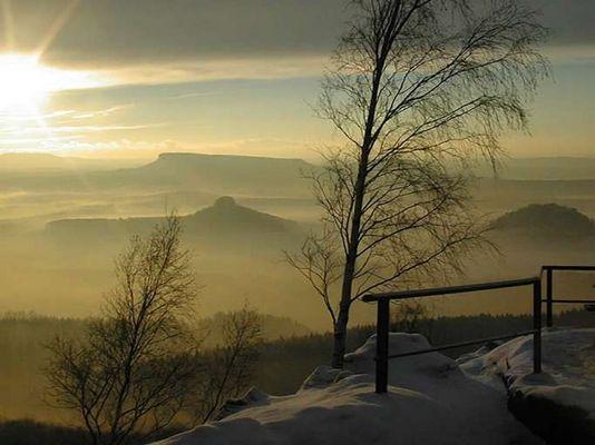 Winter in der Sächsischen Schweiz