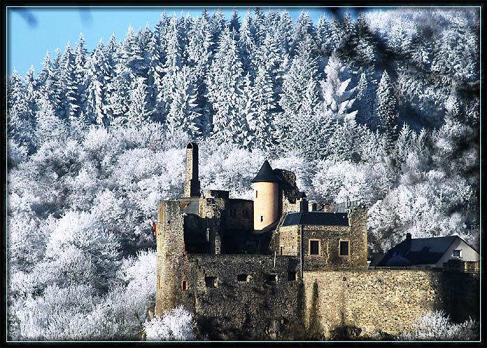 winter in idar oberstein mit blick auf das schlo foto bild jahreszeiten winter germany. Black Bedroom Furniture Sets. Home Design Ideas