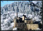 Winter in Idar-Oberstein mit Blick auf das Schloß