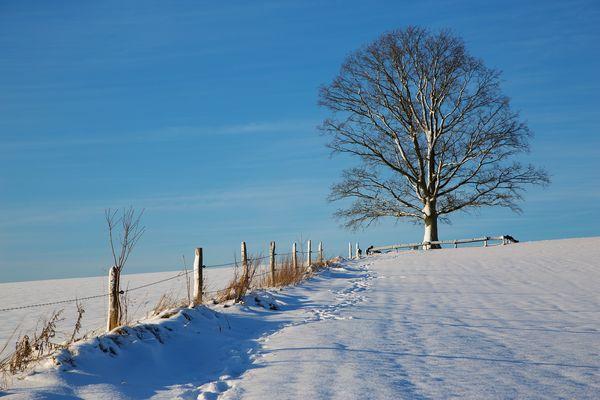 Winter in Kierspe, Sauerland, NRW