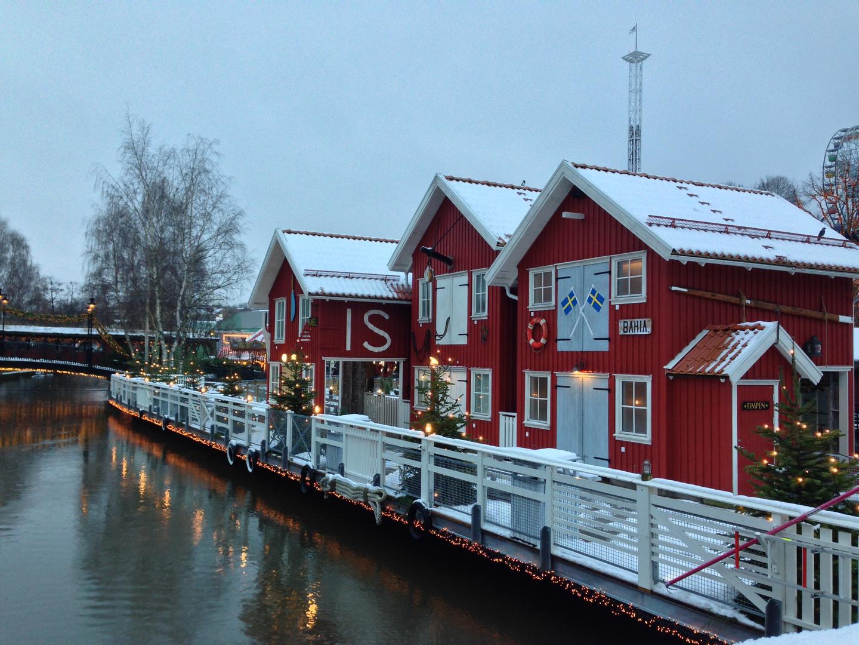 Winter in Liseberg, Göteborg