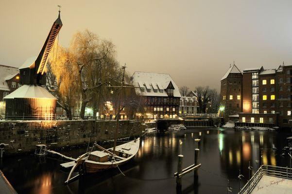 Winter in Lüneburg.