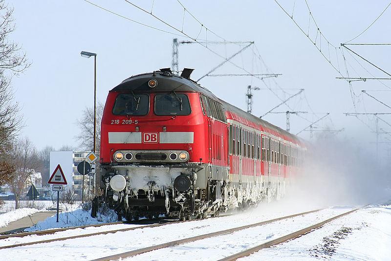 Winter in Norddeutschland.
