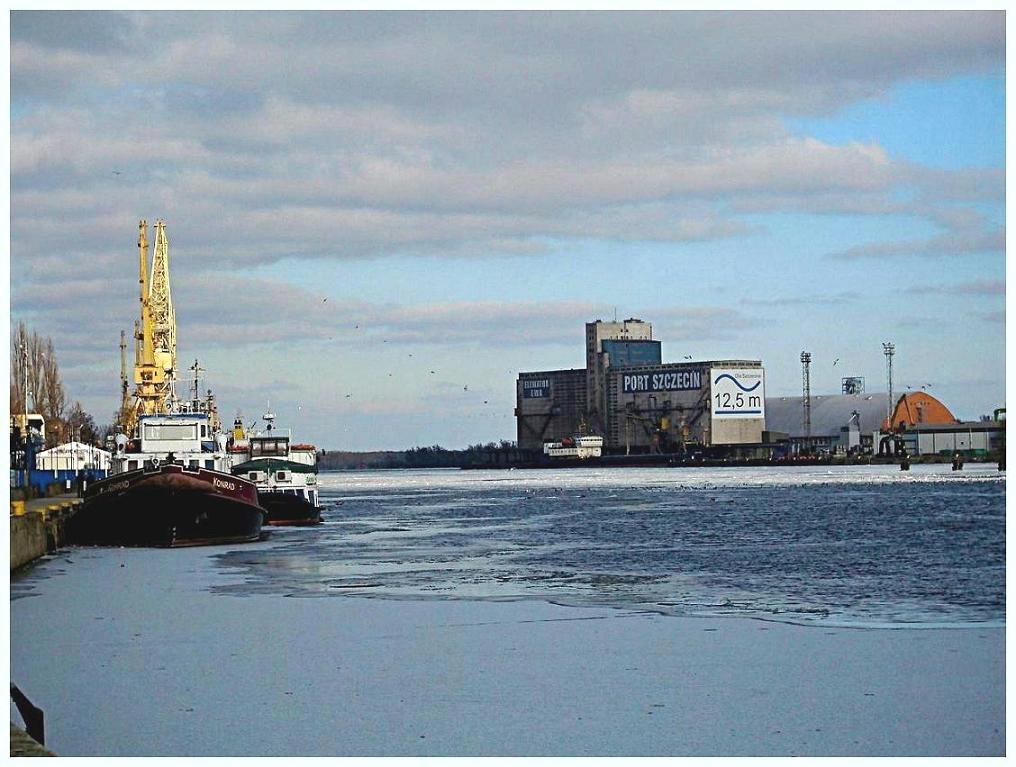 Winter in Stettin harbour