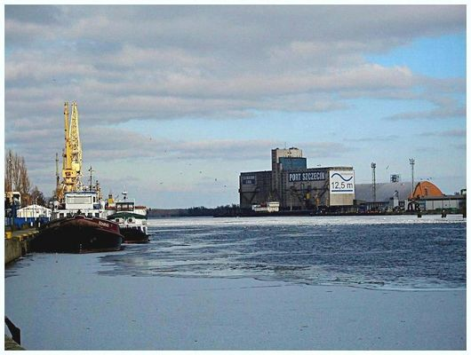 Winter in Stettin harbour
