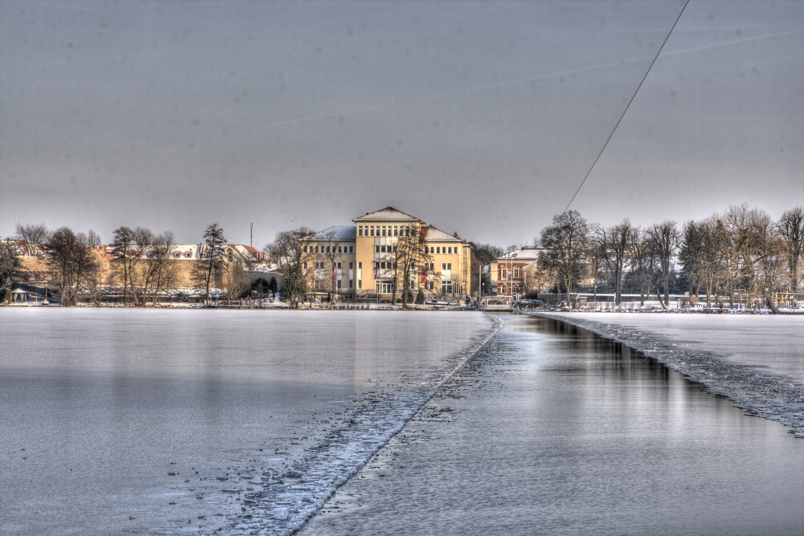 Winter in Strausberg - Fähre