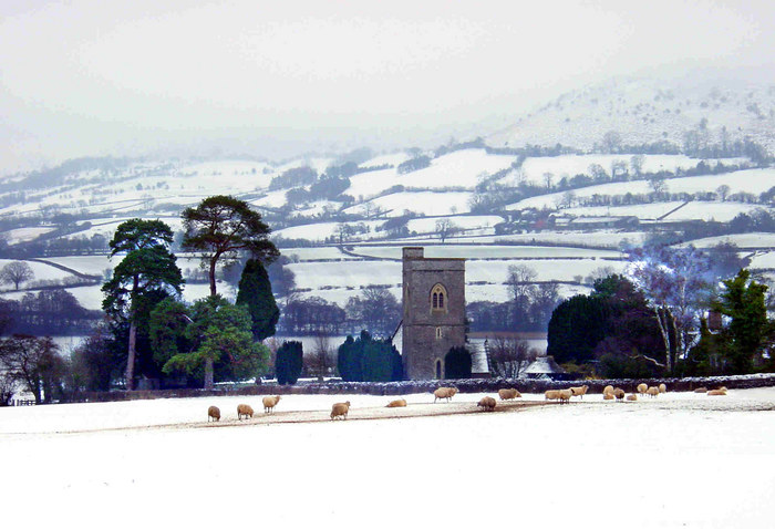 Winter, Llangasty, Brecon, Wales