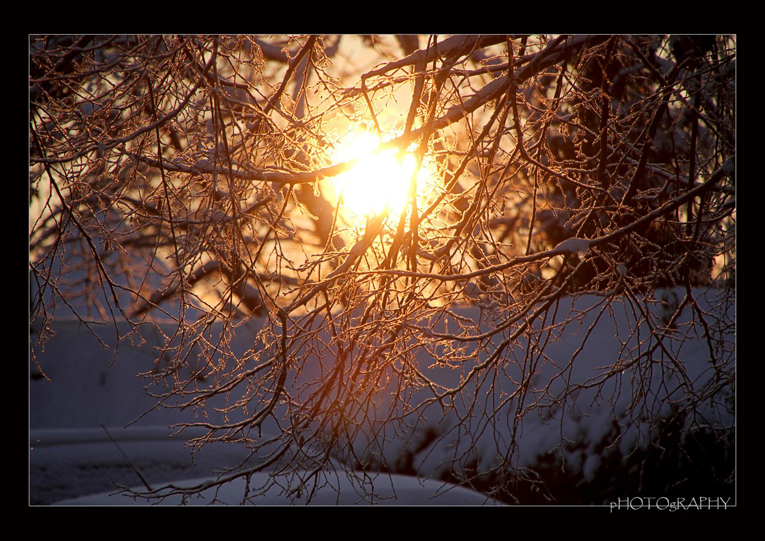 Winter Morgensonne