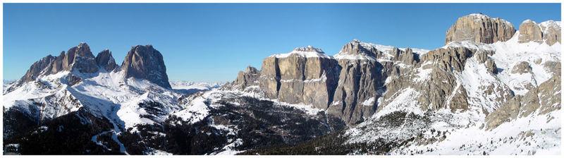 Winter-Panorama Val-Gardena