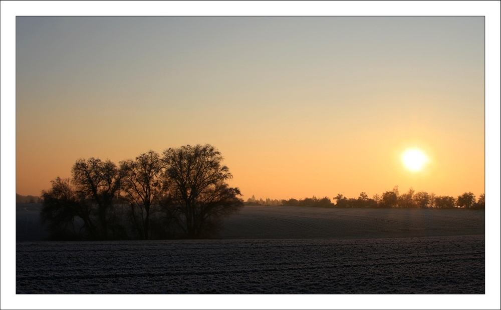 * Winter sunset *