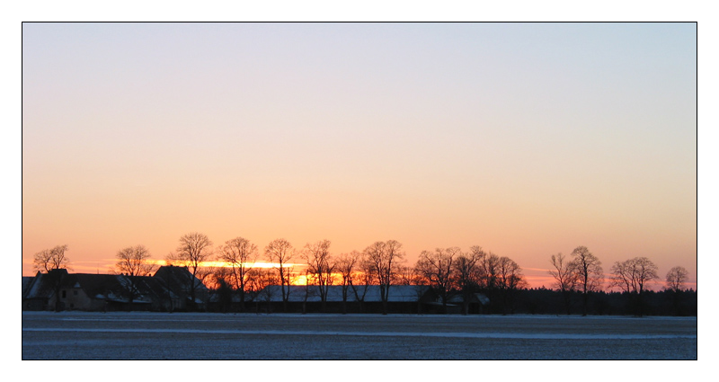 Winter / Sunset - III