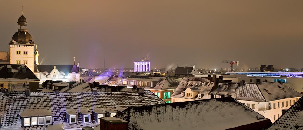 Winter über Paderborn