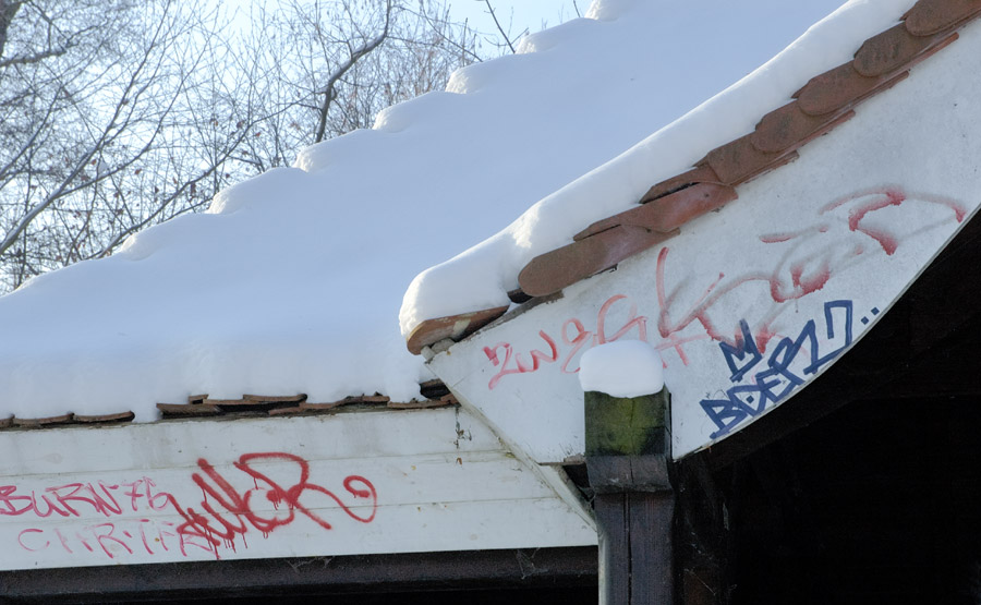 Winter und Graffiti