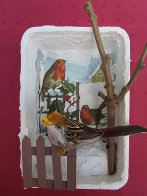 WINTER - Vogel im Schnee