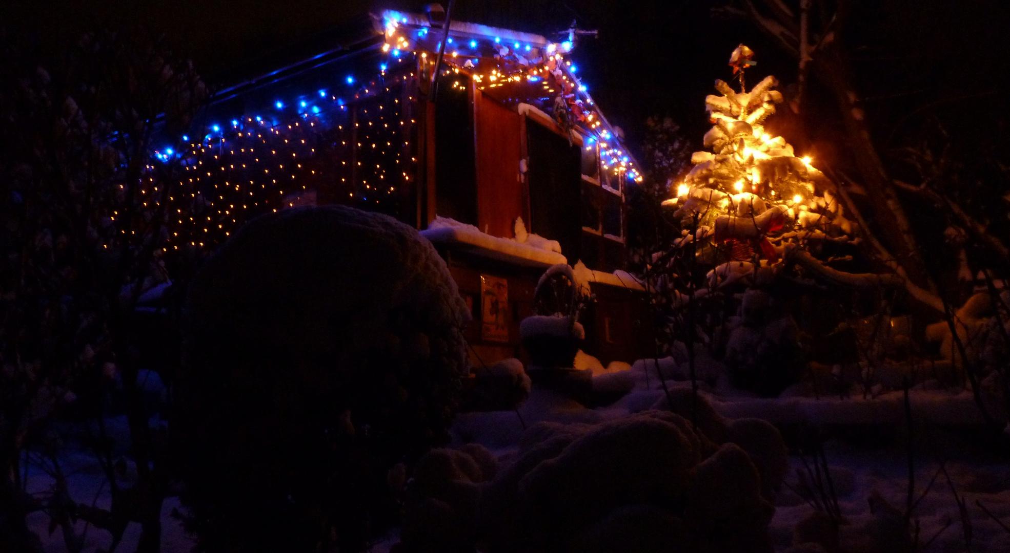 Winter-Weihnachts-Hütte