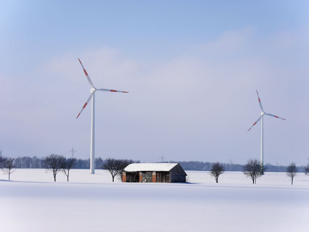 Winter Windräder