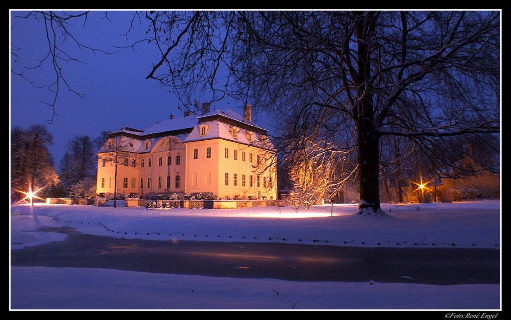 Winterabend am Schloß Branitz