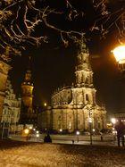 Winterabend am Schloßplatz