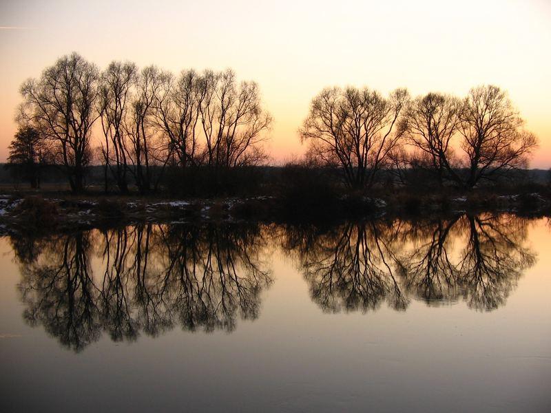winterabend an der mulde