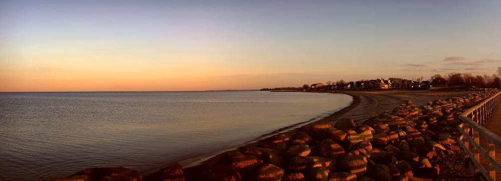Winterabend an der Ostsee