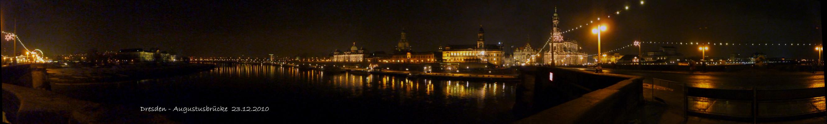 Winterabend auf der Augustusbrücke