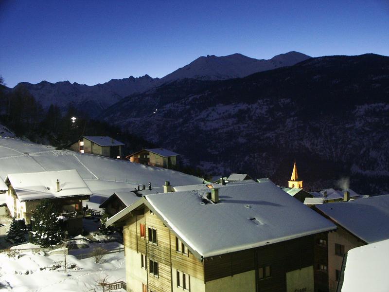 Winterabend im Wallis