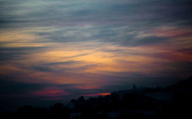 Winterabend in Franken