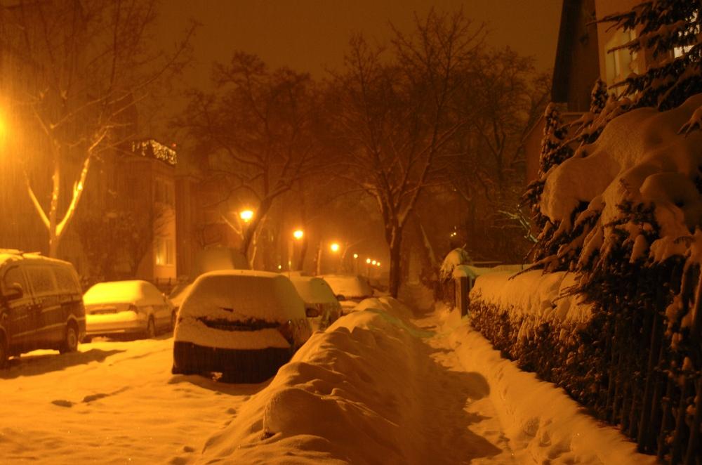 Winterabend in Karlshorst