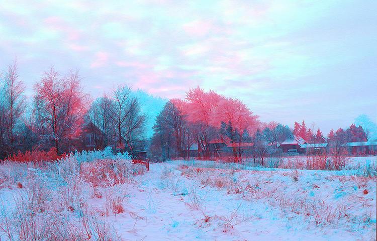Winterabend in Schleswig Holstein 3D