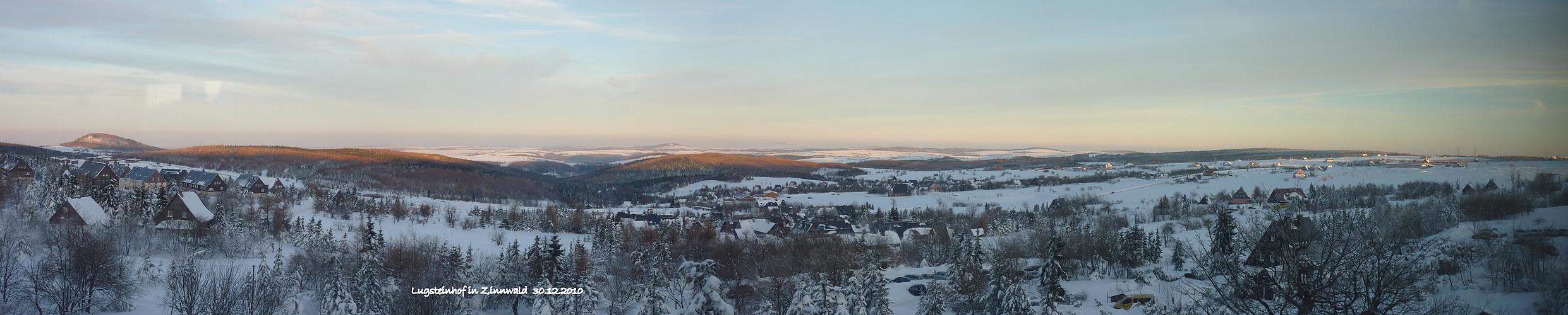 Winterabend in Zinnwald/Osterzgebirge