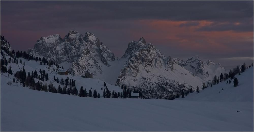 Winterabend über der Cadini-Gruppe