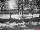 Winterbild im schwarz/weiß - Look