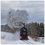 Winterdampf in Schönheide