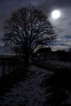 Winterdorf bei Nacht